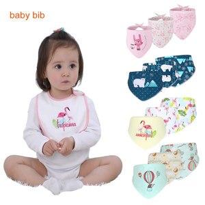 HereNice, bufanda de algodón orgánico para recién nacidos, Baberos de tela de muselina para niños y niñas, babero impermeable bonito para bebés