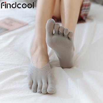 Findcool 10 Pairs Velvet Five Finger Socks Women Slippers Velvet Summer Mesh Breathable Invisible Shallow Socks tanie i dobre opinie CN (pochodzenie) Stałe spandex NYLON Cienkie FS5505