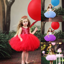 Princess Kids Baby Fancy Wedding Dress Sleeveless Sequins Ball Gown Birthday Party Dress for Girl Summer Dresses 6M-6Y baby girl dress pink flower sleeveless ball gown princess wedding dresses girls baptism 1 year vestido infantil 6m 4y
