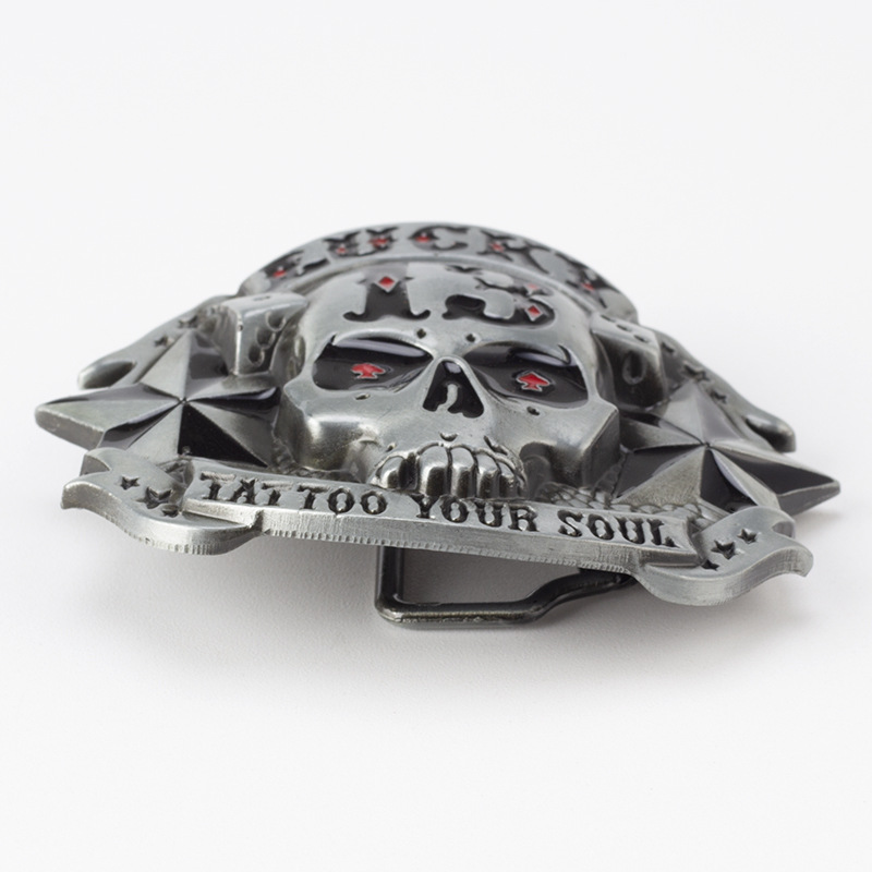 Skull skeleton belt buckle Belt DIY accessories Western cowboy style Smooth belt buckle Punk rock style k10