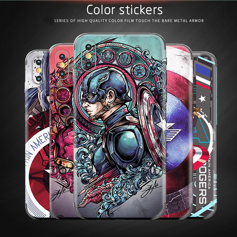 Phone <font><b>stickers</b></font> Cover For <font><b>Samsung</b></font> <font><b>galaxy</b></font> A80 A70 A60 A40 A30 A20 Color Back film Captain America relief Ultrathin protect Film image