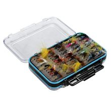 64pcs Dry Flies Bass Salmon Trouts Flies Nymph and Streamer Fly Fishing flies Kit Waterproof Fly Box for Trout Fly Fishing Flies
