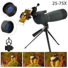 25-75X70 Zoom HD monokularowy teleskop statyw na telefon uchwyt zewnętrzny wodoodporny noktowizor luneta do obserwacji ptaków tanie tanio None CN (pochodzenie)