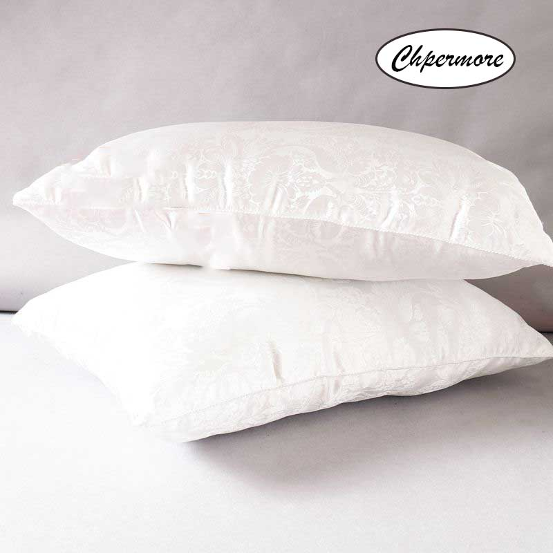 Chpermore 100% Mulberry Silk Pillow White Jacquard Memory Pillows Orthopedic Neck Pillow With Cotton Cover Sleeping Health
