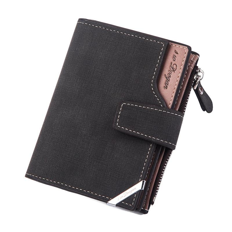 New Vintage Men's Short Wallet Men Leather Multi-Card Bit Retro Card Holder Clutch Wallets Purses Business Men's Wallet