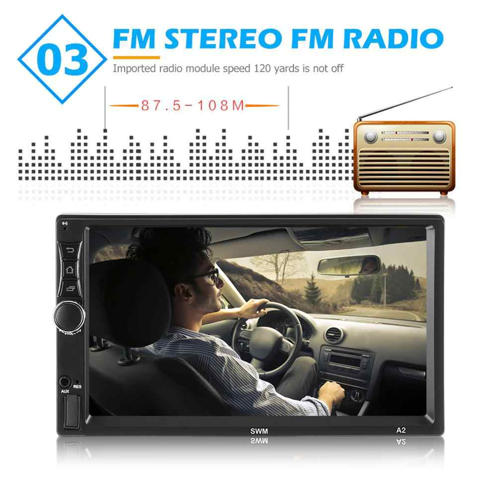 A2 ترقية مزدوجة 2 الدين أندرويد 9.1 سيارة ستيريو 7 بوصة رباعية النواة لتحديد المواقع بلوتوث الملاحة واي فاي USB راديو استقبال رئيس وحدة