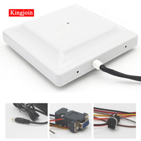 KINGJOIN RS232 middle distance 6M UHF card reader wireless smart card reader with relay output for parking system
