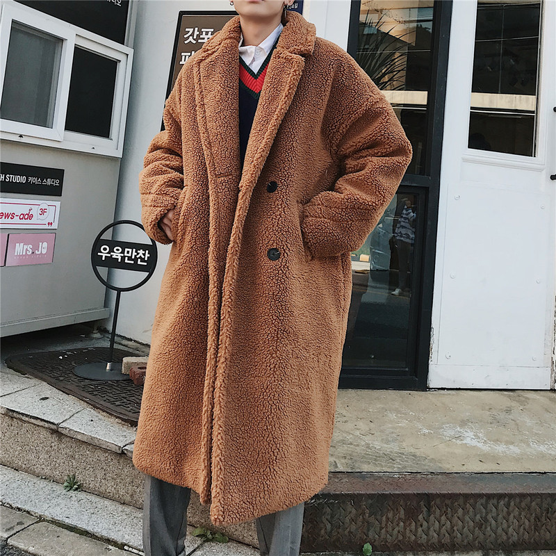 2018 Winter High Quality Thicken Wool Bomber Jacket Coat Men X-Long Sections Woolen Warm Coat Men Teddy Coat Casual Men Overcoat