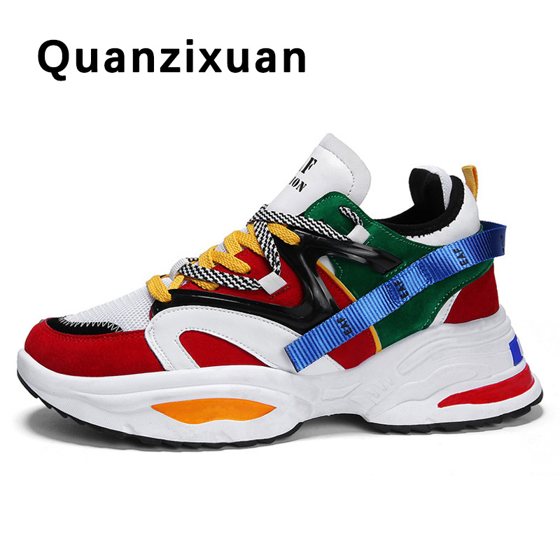 Spring Women Vulcanize Shoes Chunky Sneakers Slip-on Women Shoes Platform Sneakers Walking Shoes Women Flats Sneakers Shoes 42