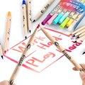 6/12/24 цветов  маркеры с двойной головкой для рисования  маркеры для рисования на водной основе с белой кисточкой 1 шт.
