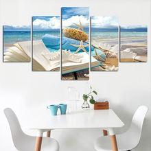 5 панельных холщовых картин Настенная картина hd печать плакат