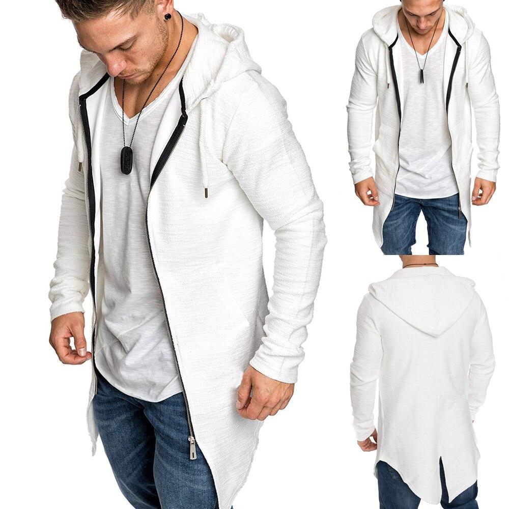 Ha4d30671dd5c498a85fce2bd5af78452D Men's Warm Hooded Coat Outwear Jumper Winter Trench Zipper Long Sleeve Cloak Male Coat Streetwear