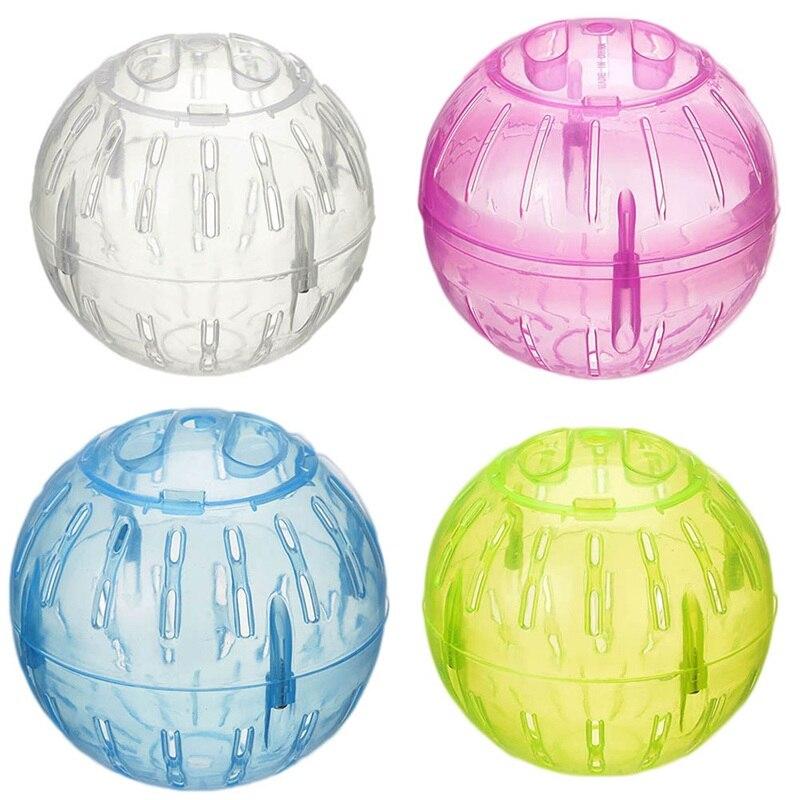 New Small Pet Run The Ball Toy Home Hamster Transparent Running Ball 10cm Jogging Pets Chinchilla Guinea Pig Mini Trot Ball