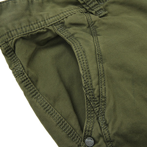 Image 5 - アーミーグリーン男性のミリタリーパンツスリムフィットワークカーゴパンツ戦術的なカジュアルなストレート長ズボンカーゴパンツ男性とポケット