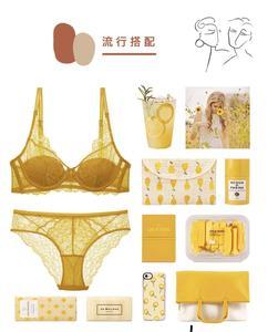 Image 5 - HONVIEY nowy żółty koronki bielizna Push Up regulowane paski biustonosz i majtki zestawy trójkąt puchar bez gąbki Sexy kobiet bliscy