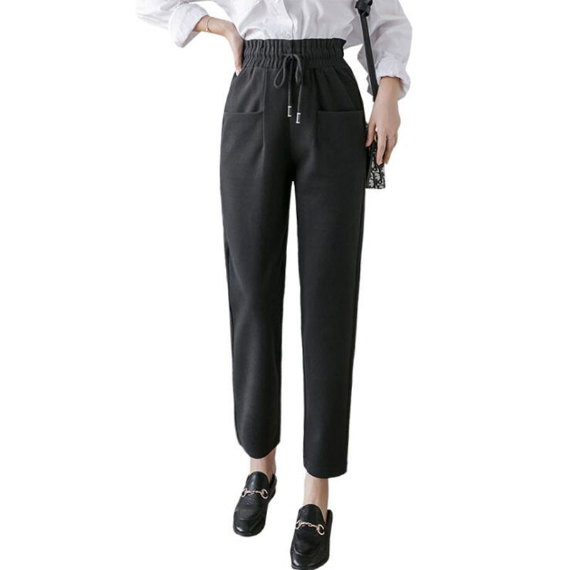 Fashion Black Suit Pants For Women High Waist Pants Loose Pants Joggers Woman Sweatpants Streetwea