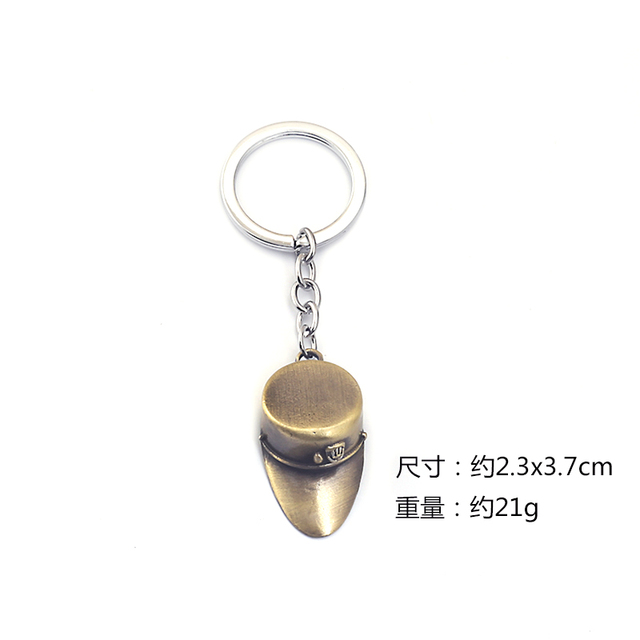 New JOJOS BIZARRE ADVENTURE Keychain Metal KILLER QUEEN Keyring Higashikata Josuke  Key Holder Men Women Jewelry llaveros 2