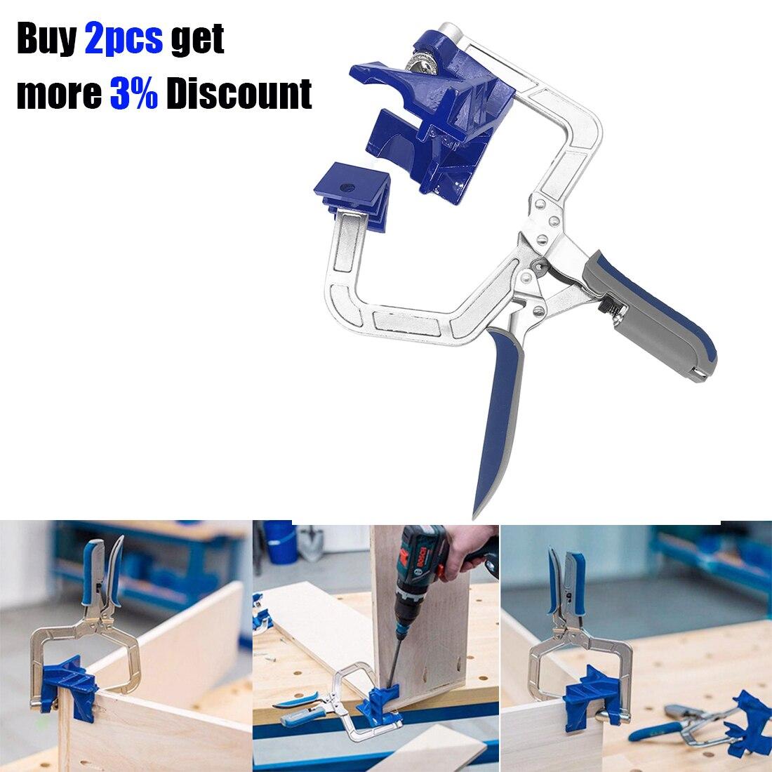 90 degrés à Angle droit pince à bois cadre photo coin pince rapide fixe coin support outils de travail du bois outil à main