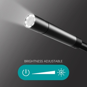 Image 3 - Y12 WIF Endoscope Camera 2.0MP Android Inspection Camera Semi rigid Cable Waterproof Wireless Borescope with Adjustment 8pcs LED