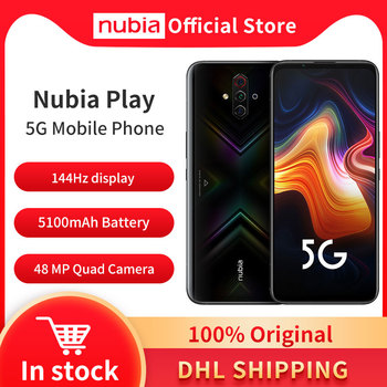 Original Nubia Play 5G Mobile Phone 6.65'' AMOLED 144Hz 8GB 128GB Snapdragon 765G Dual Band 30W Quick Charger 48MP Quad Cameras