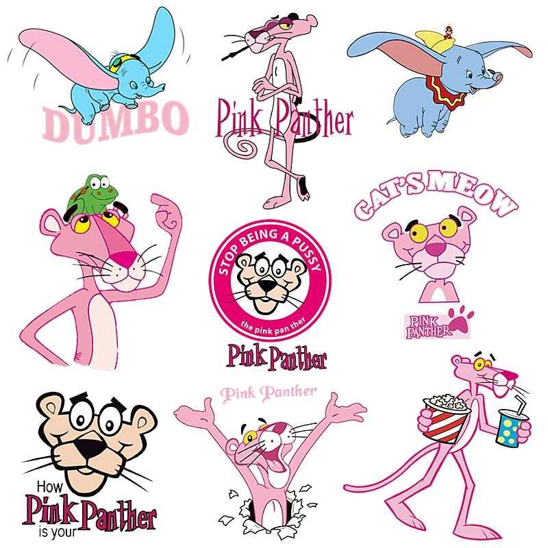 New Cute Pink Panther Patch per Abbigliamento Sticker per I Bambini della ragazza dei ragazzi FAI DA TE Toppe E Stemmi capretti del bambino T-Shirt Piccolo Animale di Calore di trasferimento