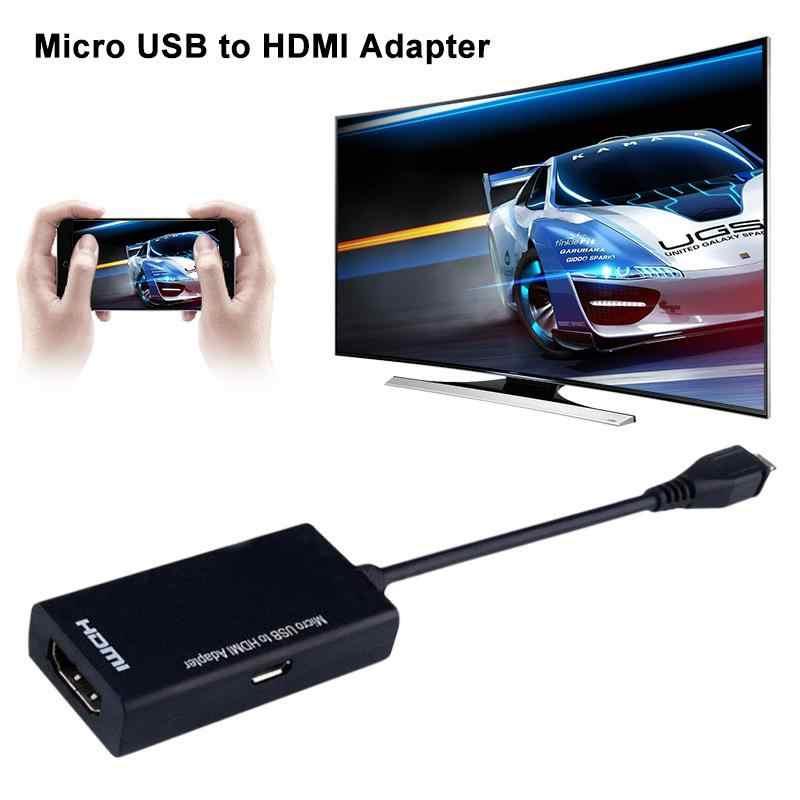 Novo micro usb para hdmi adaptador de 5 pinos micro-usb macho para hdmi hd conversor de cabo para computador portátil tv-caixa e vga dispositivos de saída r20