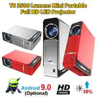 New T6 Full Hd Led Projector 4k 3500 Lumens HDMI USB 1080p Portable Cinema Beamer Android 9.0 WIFI Same Screen Video Projector