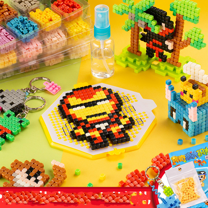 Water Stick DIY 3D Aquar Pegboard Hama Pixels Magic Beads Jigsaw Puzzle Educational Popular Toys For Children Christmas Gift