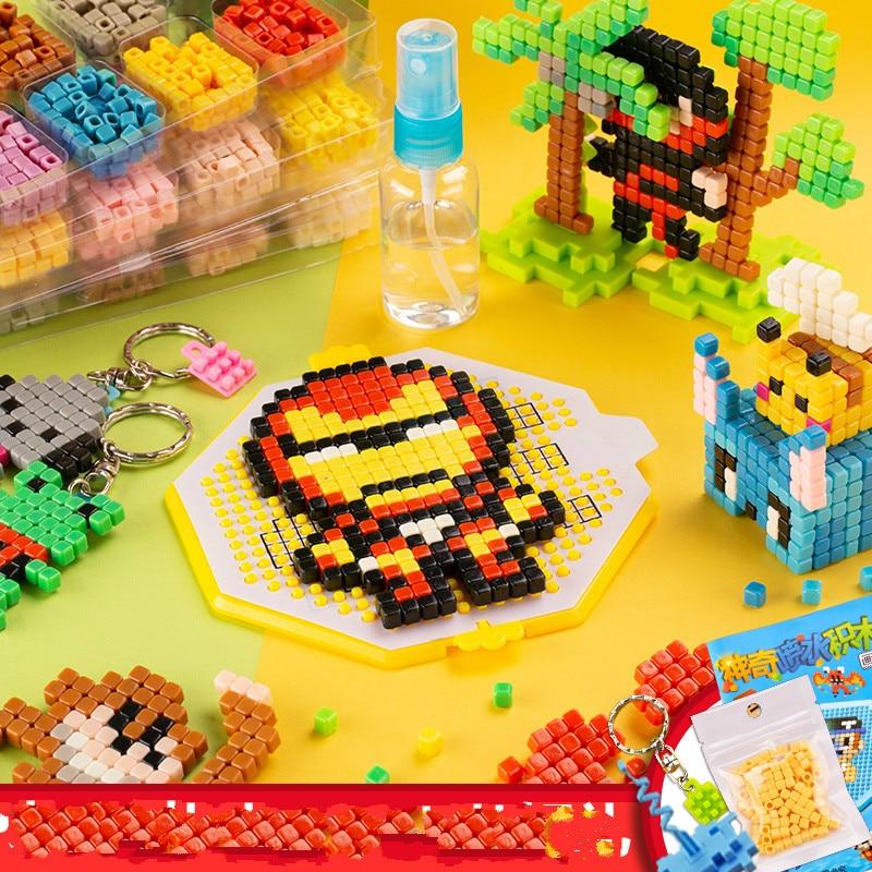 Water Stick DIY 3D Aquar Pegboard Hama Pixels Magic Beads Jigsaw Puzzle Educational Popular Toys For Children Christmas Gift