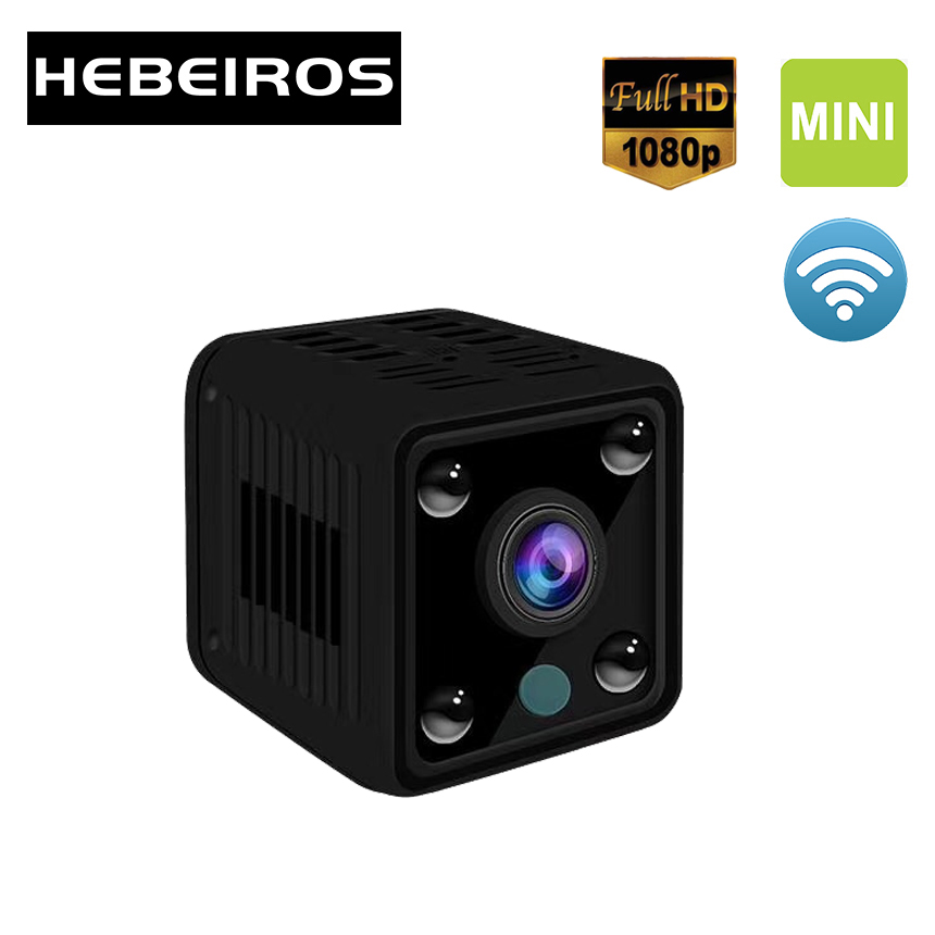 Hebeiros 1080P HD Mini Battery Wifi Camera Security Wireless Sport Camera Audio Surveillance Camera CCTV IP Camera Night Vision