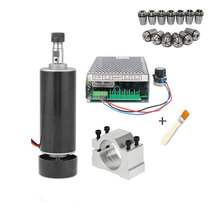 500w Air cooled spindle Motor +13pcs ER11 chuck + 52mm clamps + Power Supply speed governo