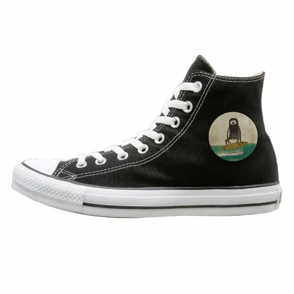 Aiguan/парусиновая обувь для серфинга; высокие повседневные Черные кроссовки; стиль унисекс