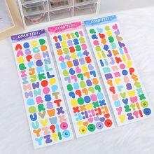 Красочные буквенно цифровые милые наклейки для уплотнения канцелярские