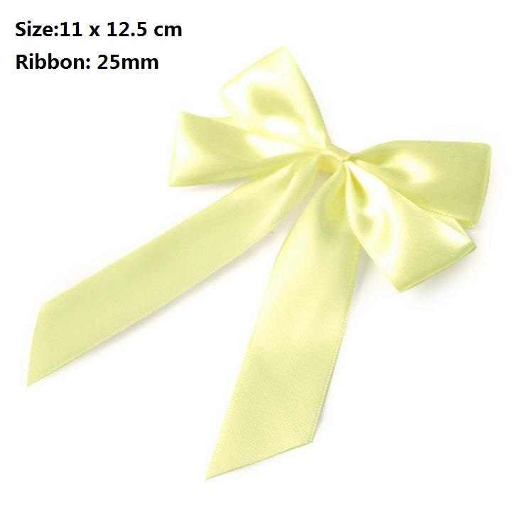 16 قطعة 25 مللي متر شرائط شرائط صفراء لصناديق الهدايا مواد ذاتية الصنع لربطات صناديق الهدايا
