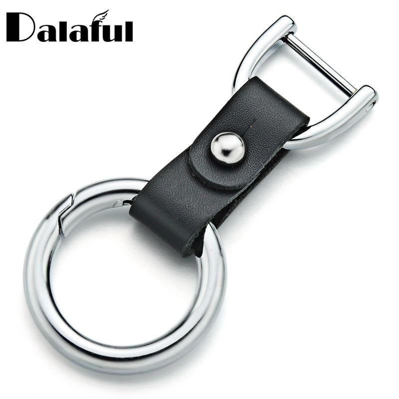 Leather Keychain Handmade Personalized Key Holder For Automobile Detachable Keyrings For Car Women Men Gift Keys Organizer P011