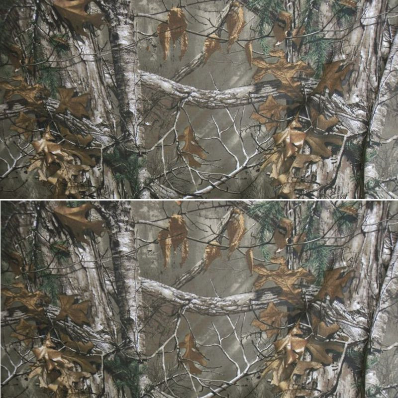 Bionic Dead Leaves Pine Needles Camo Fabric 1.5M Width TC Wear Resistant Camouflage Cloth For Disguise Jacket Pants Weapon Bags