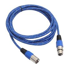 Profissional náilon tecido xlr macho para fêmea cabo de áudio 1 m/1.8 m/3 m/5 m alta qualidade microfone extensão cabo de cabo de áudio