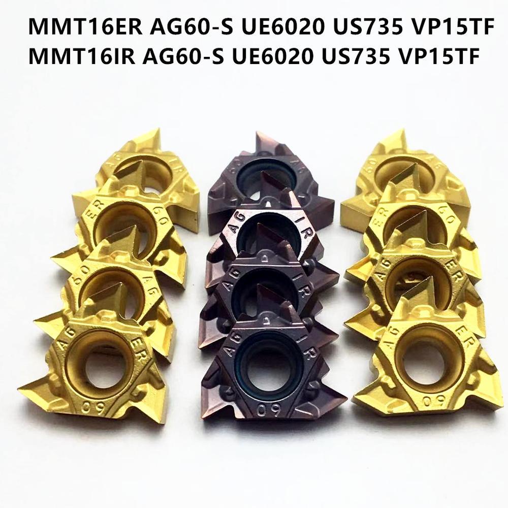 MMT 16IR 16ER AG60-S UE6020 VP15TF US735 MMT16IR MMT16ER Pressed Thread Turning Tool CNC Machine Tool Turning Parts 16ER AG60-S