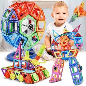 180 stücke Große Größe Magnetische Designer Magnet Bausteine Bau Set Magnete Magnetische Blöcke Pädagogisches Spielzeug Für Kinder