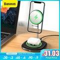 Baseus Drahtlose Ladegerät 2 in 1 Ladestation Wireless Charging Pad Für iPhone 12 Pro 11 Airpods Magnetische Schnelle Telefon ladegerät