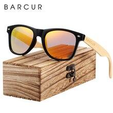 BARCUR gafas de sol de madera para hombre y mujer, anteojos de sol masculinos con bisagra de resorte, hechos a mano, de bambú, de madera, polarizadas