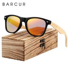 BARCUR עץ משקפי שמש אביב ציר בעבודת יד במבוק משקפי שמש גברים עץ שמש משקפיים נשים מקוטב Oculos דה סול masculino