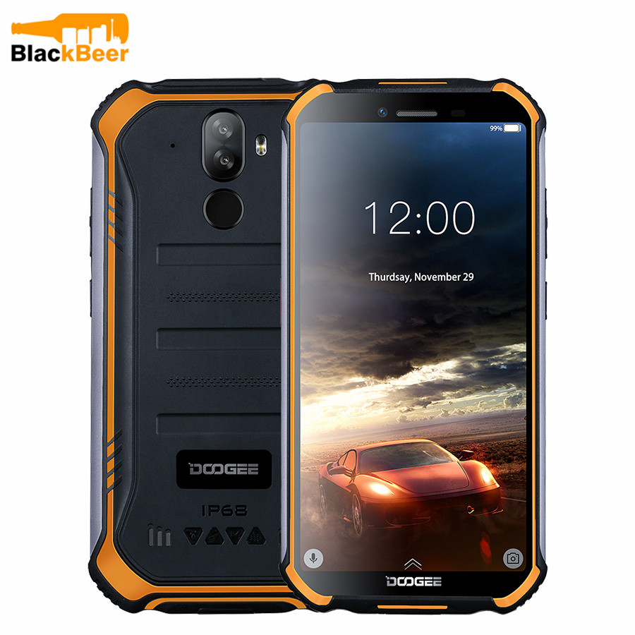DOOGEE S40 Lite Rugged IP68 Smart Phone Quad Core 2GB 16GB Android 9.0 Mobile Phone 5.5 Inch Cellphone 4650mAh Fingerprint