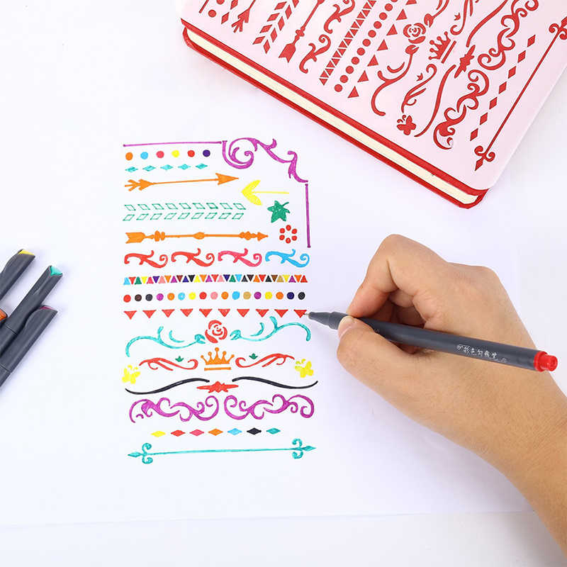 أقلام Fineliner نابضة بالحياة 24 لون غرامة خط نقطة الكتابة على الجدران الملونة تصميم لون اللوحة علامات أقلام تلوين كتاب الفن
