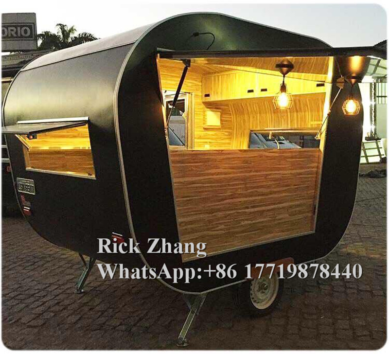 China Boat Trailer Factory Price Freezer Fast Food Truck Trailer Cart With Free Shipping By Sea