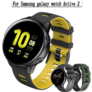 For Samsung galaxy watch Active 2 40mm 44mm Strap Sport bracelet Silicone Watchband Active2 20mm Watch Strap For Huawei GT2 42mm