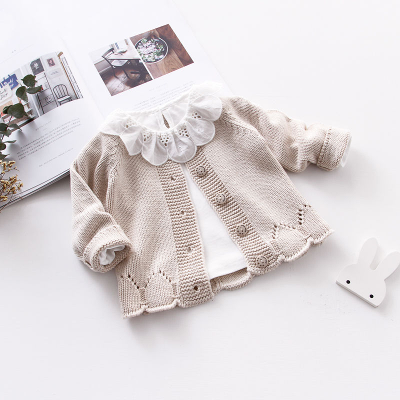 Toddler Wool Coats 2019 New Toddler Girl Winter Clothes Baby Cute Long Sleeve Knitting Coats Kids New Fashion Jackets Wool Coat