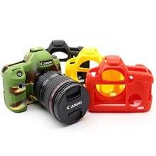 عالية الجودة غلاف حماية سيليكون للكاميرا غطاء لكانون 6D/70D/77D/80D/650D/700D/5D3 5DS 5DR/5D مارك IV لينة المطاط كاميرا الجلد