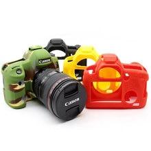 Alta qualidade silicone caso da câmera capa para canon 6d/70d/77d/80d/650d/700d/5d3 5ds 5dr/5d mark iv caso de câmera de borracha macia pele