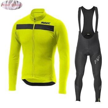 Mavic roupas térmicas masculinas para ciclismo, camisa de aviso nw para inverno, equitação, bicicleta, mtb, novo, 2020 conjunto de 1